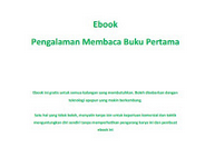 [Buku Digital] Pengalaman Membaca Buku