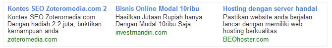 contoh iklan zoteromedia ppc dan cpm premium indonesia