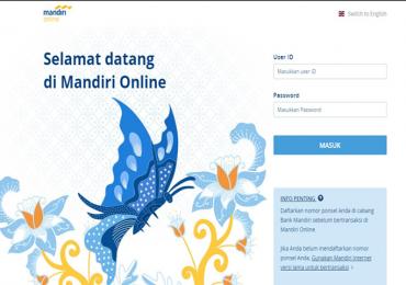 Dashboard Mandiri online Web Version