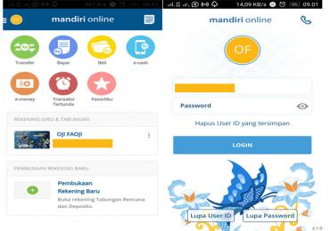 Kemudahan Transaksi Menggunakan Mandiri Online - Tampilan mobile