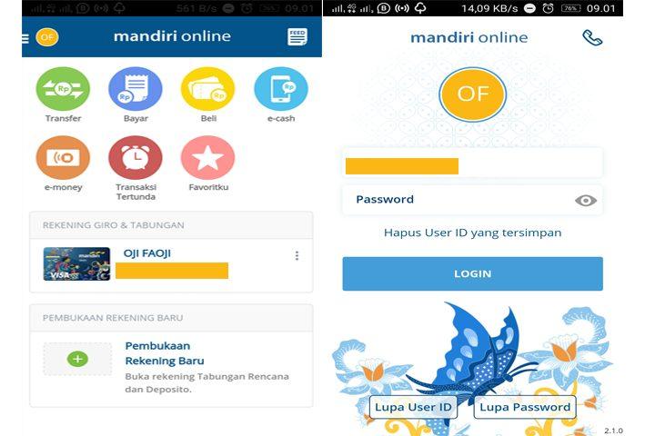 Kemudahan Transaksi Menggunakan Mandiri Online – Tampilan mobile