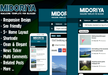 Midoriya Magz Magazine Template Premium for Blogger