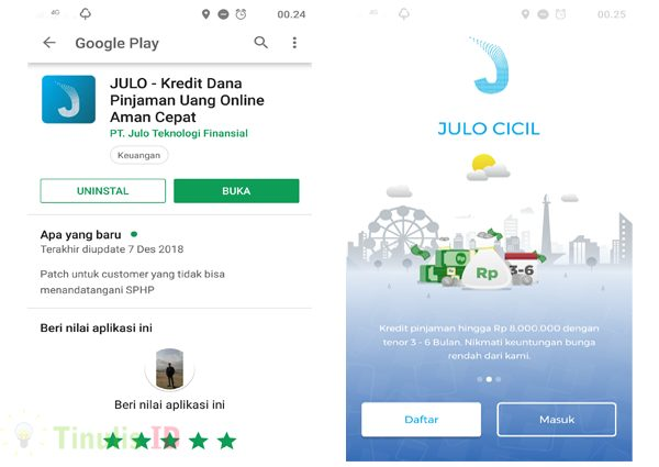 Download & Instal Aplikasi Julo