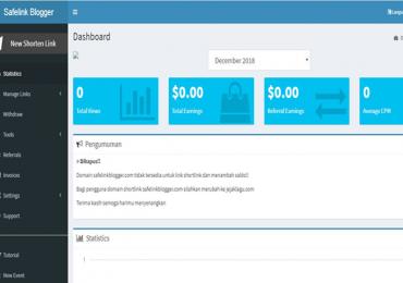 Dashboard Safelink Blogger