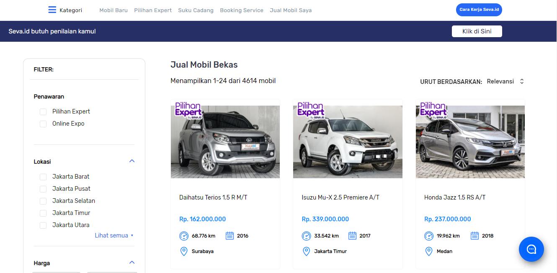 SEVA Pusat Mobil Murah dan Layanan Terbaik Untuk Pencarian Mobil Bekas Berkualitas No.1